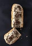 Wyśmienity kremowego deseru eclair Fotografia Royalty Free