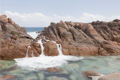 Wyadup Tidal Pool Covered with White Sea Water Royalty Free Stock Photos