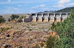 Wyangala水坝溢洪道,中央西部NSW 免版税库存图片