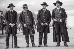 Wyatt Earp And Brothers In Tombstone Arizona During Wild West Show Stock Photography