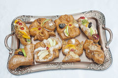 Wybór duńscy ciasta obraz royalty free