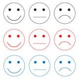 Wybór emocji ikony obraz stock