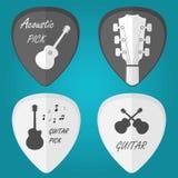 Wybór gitary ustalony płaski wektor Zdjęcia Royalty Free