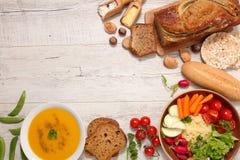 Wybór glutenu bezpłatny posiłek zdjęcia stock