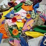 Wybór kawałki tkanina zdjęcia stock