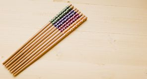 Wybór kolorowi Chińscy kotlecików kije Fotografia Royalty Free