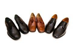 Wybór męscy buty Obraz Royalty Free