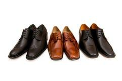 Wybór męscy buty Fotografia Stock