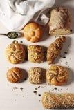 Wybór Mieszane Chlebowe rolki lub babeczki Obrazy Royalty Free