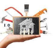 Wybór narzędzia w kształcie, domowego ulepszenia pojęcie Obrazy Stock