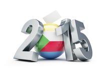 Wybór parlamentarny w Comoros 2015 Zdjęcia Royalty Free