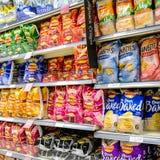 Wybór piechurów Popularni Kartoflani chipsy zdjęcie royalty free