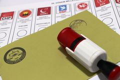 Wybór Powszechny w Turcja, 2015 Zdjęcia Royalty Free