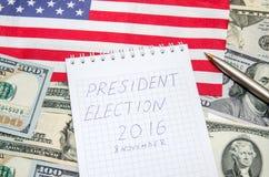 Wybór Prezydenci 2016 Obrazy Royalty Free
