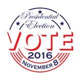Wybór Prezydenci głosowania projekt Obraz Stock