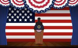 Wybór prezydenci sztandaru tło ilustracja wektor