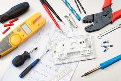 Wybór różnorodni elektryczni narzędzia zdjęcia royalty free