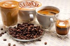 Wybór różny kawowy typ zdjęcia stock