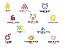 Wybór różni logowie Obraz Royalty Free