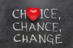 Wybór, szansa, zmiana obraz royalty free