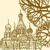 Wybawiciel na Rozlewającej krwi w St Petersburg ilustracji
