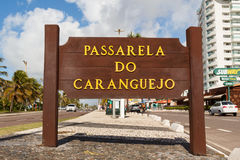 Wybieg Passarela De Caranguejo na sławnym plażowym Atalaia, Aracaju zdjęcie stock