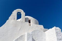 Wybielanie ruina w Mykonos Obraz Stock