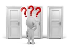 Wybierać drzwi royalty ilustracja
