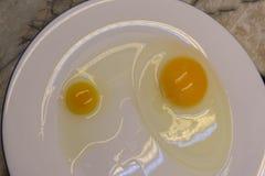 Wybierać składniki dla tortowych ekstrahujących jajecznych biel i yolks zdjęcie royalty free