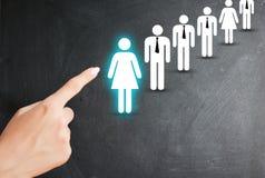 Wybiera kandydata, działów zasobów ludzkich i zatrudnieniowego pojęcia na białym tle, Zdjęcie Stock