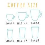 Wybiera kawa rozmiar ilustracji