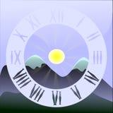 Wybiera numer świt w górach ilustracji
