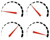 Wybiera numer, metrowi szablony z czerwoną potrzebą i jednostki ustawiać przy 4 scenami, l Obraz Stock