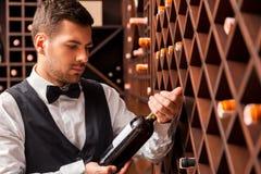 Wybierać prawego wino Obraz Royalty Free