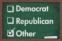 Wybierać twój partii politycznej Fotografia Royalty Free