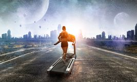 Wybiera twój trasę dla biegać Mieszani środki zdjęcie royalty free