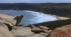 Wybitna ska?y formacja na kangur wyspie, Australia 4K zbiory