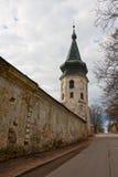 Wyborg, der alte Festungsturm Stockfotos
