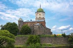 Wyborg-Schloss, Russland lizenzfreie stockfotos