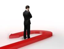 wyborowa biznesmen przyszłość robi target2190_0_ Obraz Stock