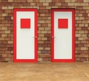 Wyborowi drzwi sposoby Wybiera decyzję I Doorframe royalty ilustracja