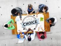 Wyborowy Przygodny sposobności opci decyzi pojęcie Zdjęcie Royalty Free