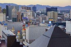 Wyborowy widok z lotu ptaka pasek, Las Vegas i kasyna, obrazy stock