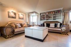 Wyborowy żywy pokój w baroku stylu Obrazy Royalty Free