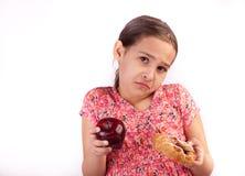 wyboru zdrowy trudny Fotografia Stock