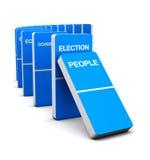 Wybory Błękit Domino Obrazy Royalty Free