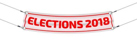 Wybory 2018 banner reklamy Obrazy Royalty Free