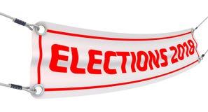 Wybory 2018 banner reklamy Zdjęcie Stock
