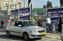 Wybory dzień w Izrael Zdjęcia Stock