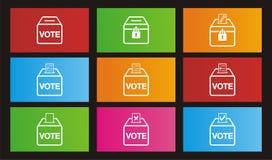 Wybory ikony - metro stylowe ikony Obraz Stock